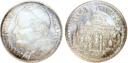 World Coins - Vatican-Rome. Pope Pontificate. Pope John Paul II. Silver Medal Year of Redemption 1983. UNC