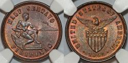 World Coins - USA administration: Philippines. Nice 1 Centavo 1903. NGC MS64 RB