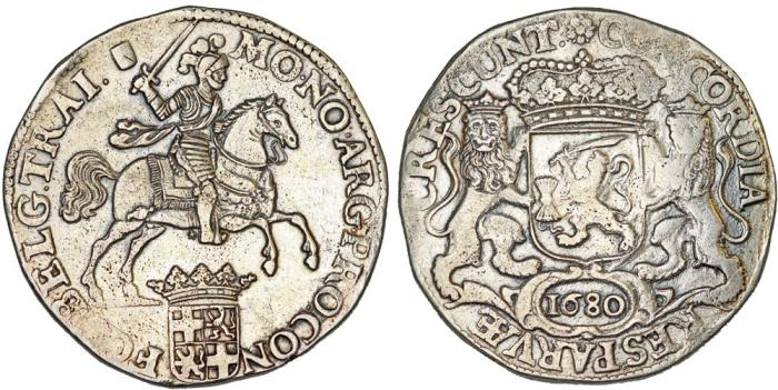 "World Coins - Netherlands. Utrecht. AR Ducaton called ""Silver Rider"" 1680. AVF, early type!"