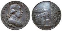 World Coins - Great Britain. Willey and Snedshill, John Wilkinson. AE Halfpenny Token 1793. Good XF