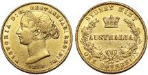 World Coins - Australia. Queen Victoria (1837-1901) Gold Sovereign 1870. Choice XF