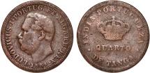 Portuguese India.Colonial Issue AE 1/4 Tanga 1884. Fine
