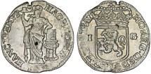 World Coins - Netherlands. Utrecht. AR 1 Gulden 1733. AXF