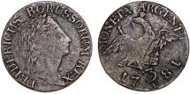 World Coins - Germany: Prussia Coinage for Polish Territories. king Wilhelm II (1740-1797). AE 3 Groschen 1781A. Nice Choice VF