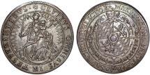 World Coins - Germany: Bavaria . Bayern. Maximilian I (1623-1651) . Beautiful AR Taler 1625. Choice XF/AU, toned