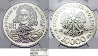 "World Coins - Poland. Nickel Pattern ""PROBA"" 10,000 zl 1992MW. ""Ladislav of Varna"". NGC PF69 Cameo!"
