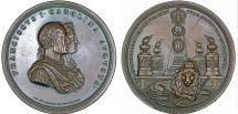 "World Coins - Austrian Emprire. Franz I, Emperor of Austria (1804-1835). AE Medal 1833 ""The visit of the imperial couple in Prague"". Choice XF."