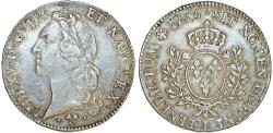 World Coins - France. King Louis XV, 1715-1774. Silver ECU 1765 L. Good Choice VF, toned