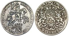 World Coins - Netherlands. Holland. AR Ducatone called: Silver Rider 1765/2. VF