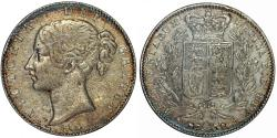 World Coins - Great Britain. Queen Victoria (1837-1901) AR Crown 1845. ANACS XF40 , RARE!