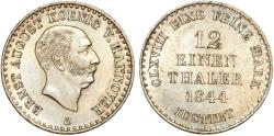 World Coins - Germany. Kingdom of Hannover. Ernst August (1837-1851) Silver 1/12 Thaler 1848S. Good XF+