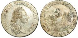 World Coins - GERMANY. Preusen. Friedrich II the Great (1740-1786). Silver Reichstaler (1785-A). About XF