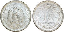 World Coins - Republic of Mexico. Silver 10 Centavos 1928. Choice AU.