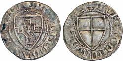 World Coins - Teutonic Knight's Order. G-Master Konrad von Jungingen III (1393-1407). RARE Silver Shilling. about VF