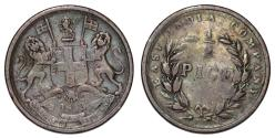 World Coins - British India. East India Company. CU 2 Pice 1853. VG