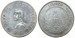 World Coins - China. Republic. AR Memento Dollar ND (1927). Choice XF