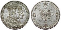 World Coins - Germany. Prussia. Wilhelm I (1861-1888) AR Coronation Thaler 1861A. Choice XF