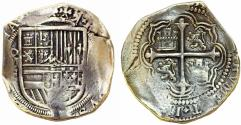 """World Coins - Mexico. Shipwreck recovered Cobb 8 Reales ND. """"Rudy Lewis Collection"""" Good VF"""