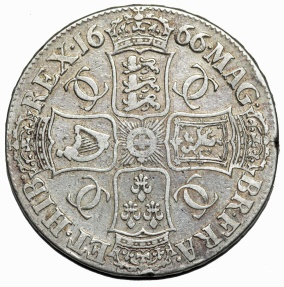World Coins - Great Britain. Charles II (1660-1685). AR Crown 1666