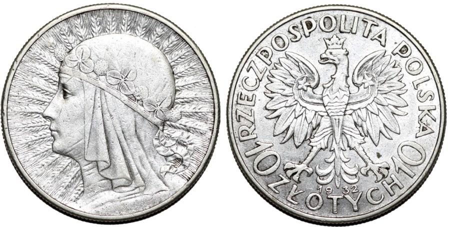 World Coins - Poland. II Repubic. AR 10 Zlotych 1932. Choice XF