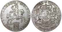 World Coins - Netherlands. Holland. AR Ducatone called: Silver Rider 1775. Choice XF