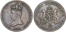World Coins - Haiti, Empire. Faustin I (1849-1858). CU 6¼ Centimes 1850. Nice VF