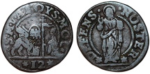 Italian States. Venice. Doge Alvise Mocenigo II. (1700-1709). Bronze 12 Denari ND. Fine