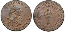 World Coins - Great Britain. Middlesex. Lackington's. CU Halfpenny Token 1795. Nice AU