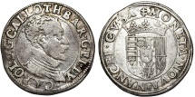 World Coins - FRANCE. Lothringia. Charles III (1545-1608). AR Teston au buste viril ND. Scarce About VF