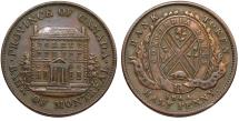 World Coins - Canada. Bank of Montreal Token. CU Half Penny 1844. Choice VF