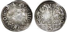 World Coins - Poland. Rzeczypospolita. Poznan. king Sigismund III. AR 3 Gross 1599, VF.