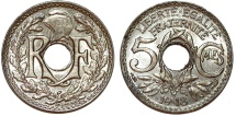 World Coins - France. Republic. 5 Centimes 1918. Choice UNC