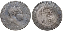 World Coins - Great Britain. George III (1760-1820). Silver Half Crown 1819. Toned Fine.