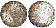 World Coins - Haiti. Republic. AR 20 Centimes 1894. XF, toned.