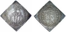 World Coins - H.R.E. Salzburg. Archbishop Marcus Sitticus von Hohenems (1612-1619). RARE AR Taler Klippe 1619. Good VF
