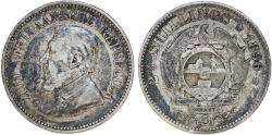 World Coins - Z.A.R. South Africa. Silver 2 1/2 Shillings 1896. Toned VF+.
