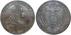 World Coins - H.R.E. Austria Tyrol. Charles VI (1711-1740). Silver Thaler 1719. NGC AU55, bank type patina