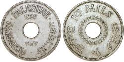 World Coins - British Administration. Palestine. CuNi 10 Mils 1927. VF+