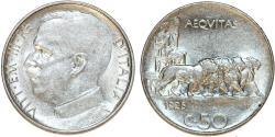 World Coins - Italy. Vittorio Emanuele III. NI 50 Centesimi 1925-R. XF