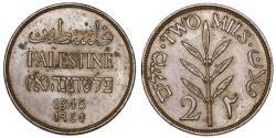 World Coins - Palestine. British Administration. AE 2 Mils 1945. UNC