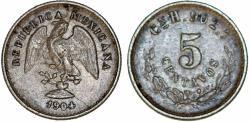 World Coins - Republic of Mexico. AR 5 Centavos 1904. Toned VF