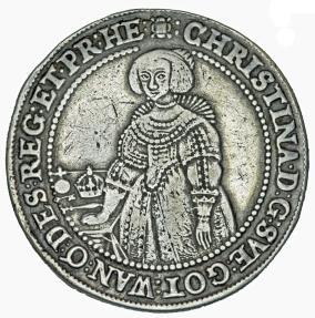 World Coins - Sweden. Queen Christina (1632-1654) AR Riksdaler 1639. AVF
