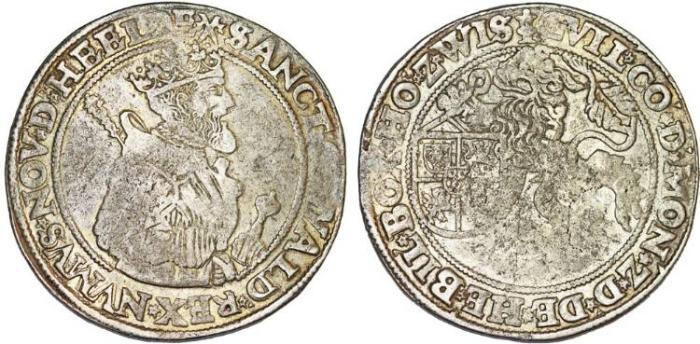 World Coins - Netherlands St. Oswald. Wilhelm IV. v. d. Bergh (1546-158)6. AR Daalder of 30 Stuivers ND. aVF