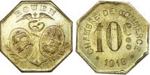 World Coins - France. Rouen. Emergency Series Token: Brs 10 Cent 1918. UNC