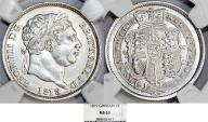 World Coins - Great Britain. King George III (1760-1820). AR 1 Shilling 1819. NGC MS63. frosty white