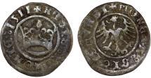 """World Coins - Poland. King Sigismund I """"Old"""" (1506-1548). Silver Half Groschen 1511. Fine+, toned"""