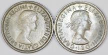 World Coins - Great Britain. Lot of 2 Coins: 1 Shilling 1953-1963, BU