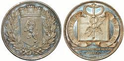 """World Coins - France. Napoleon Period. Lyon.""""Agents de Change de Lyon"""".  Silver Jeton 1801. Nice AU"""