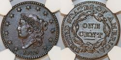 Us Coins - USA. Coronet Head Cent 1829. NGC XF45 BN!