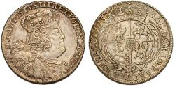 World Coins - Poland - Saxony. August III (1733-1763). AR 18 Groschen 1755 EC. Nice Choice XF, GOOD DATE